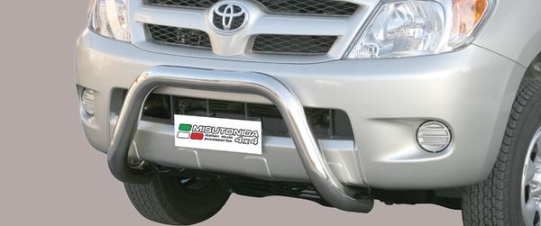 Frontschutzbügel Kuhfänger Bullfänger Toyota Hi-Lux 2006-2011, Super Bar 76mm Edelstahl Omologato Inox