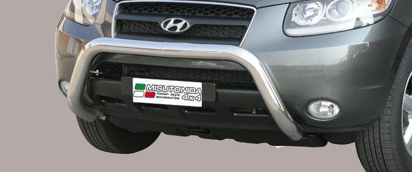Frontschutzbügel Kuhfänger Bullfänger Hyundai Santa Fe 2006-2010, Super Bar 76mm Edelstahl Omologato Inox