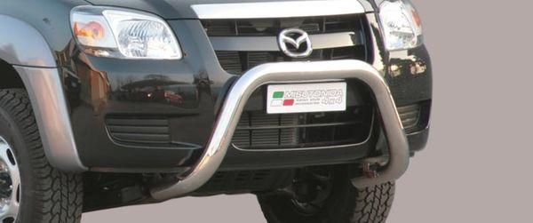 Frontschutzbügel Kuhfänger Bullfänger Mazda BT50 Double Cab 2007-2009, Super Bar 76mm Edelstahl Omologato Inox