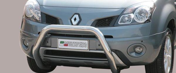 Frontschutzbügel Kuhfänger Bullfänger Renault Koleos 2008-2011, Super Bar 76mm Edelstahl Omologato Inox