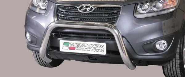 Frontschutzbügel Kuhfänger Bullfänger Hyundai Santa Fe 2010-2012, Super Bar 76mm Edelstahl Omologato Inox