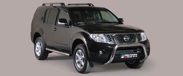 Frontschutzbügel Kuhfänger Bullfänger Nissan Pathfinder 2011-, Super Bar 76mm Edelstahl Omologato Inox