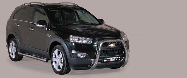 Frontschutzbügel Kuhfänger Bullfänger Chevrolet Captiva 2011-, Super Bar 76mm Edelstahl Omologato Inox