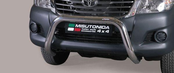 Frontschutzbügel Kuhfänger Bullfänger Toyota Hi-Lux 2011-2015, Super Bar 76mm Edelstahl Omologato Inox