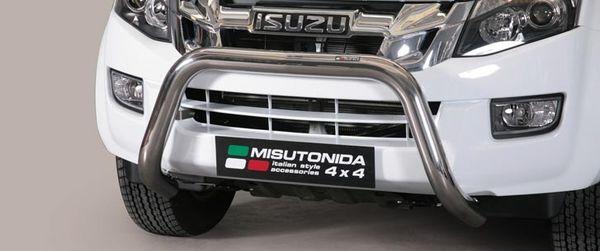 Frontschutzbügel Kuhfänger Bullfänger Isuzu D-Max Space Cab 2012-2017, Super Bar 76mm Edelstahl Omologato Inox