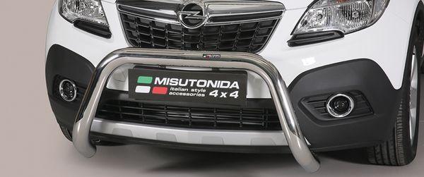 Frontschutzbügel Kuhfänger Bullfänger Opel Mokka 2012-2015, Super Bar 76mm Edelstahl Omologato Inox