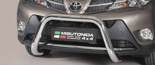 Frontschutzbügel Kuhfänger Bullfänger Toyota RAV4 2013-2015, Super Bar 76mm Edelstahl Omologato Inox