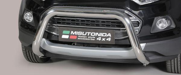 Frontschutzbügel Kuhfänger Bullfänger Ford Ecosport 2014-2018, Super Bar 76mm Edelstahl Omologato Inox