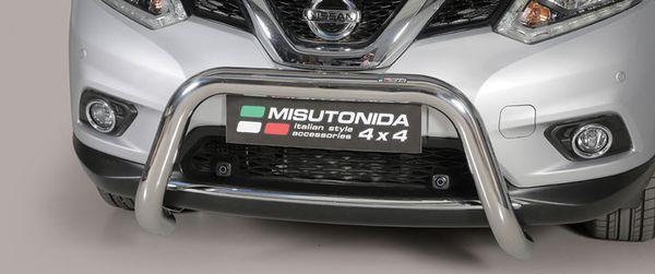 Frontschutzbügel Kuhfänger Bullfänger Nissan X-Trail 2018-, Super Bar 76mm Edelstahl Omologato Inox