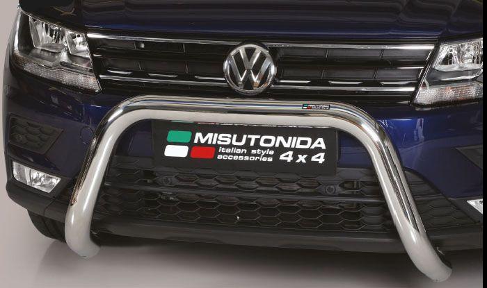 Frontschutzbügel Kuhfänger Bullfänger VW Tiguan 2016-, Super Bar 76mm Edelstahl Omologato Inox