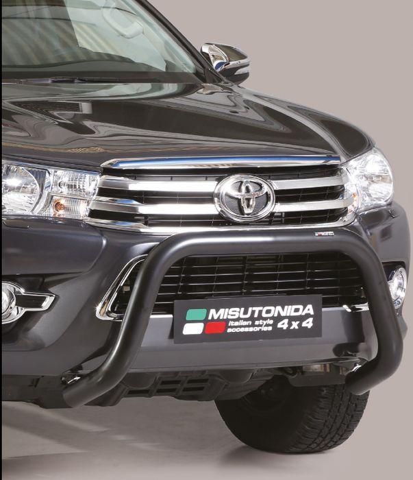 Frontschutzbügel Kuhfänger Bullfänger Toyota Hi-Lux 2015-2018, Super Bar 76mm schwarz pulverbeschichtet
