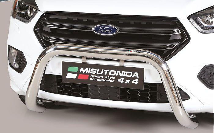 Frontschutzbügel Kuhfänger Bullfänger Ford Kuga 2017-, Super Bar 76mm Edelstahl Omologato Inox