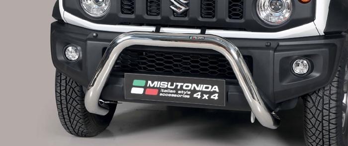 Frontschutzbügel Kuhfänger Bullfänger Suzuki Jimny 2018-, Super Bar 76mm Edelstahl Omologato Inox