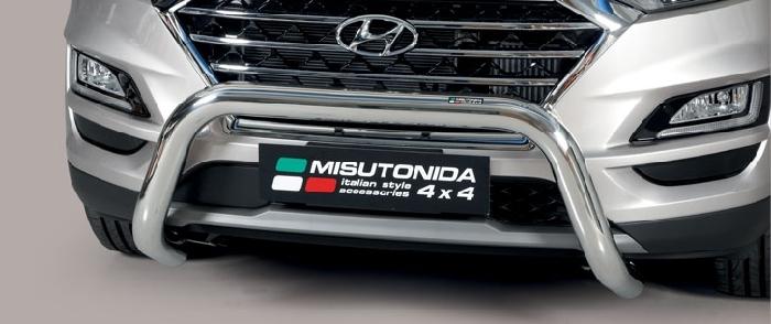 Frontschutzbügel Kuhfänger Bullfänger Hyundai Tucson 2018-, Super Bar 76mm Edelstahl Omologato Inox