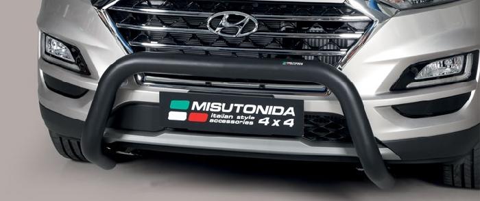 Frontschutzbügel Kuhfänger Bullfänger Hyundai Tucson 2018-, Super Bar 76mm schwarz pulverbeschichtet
