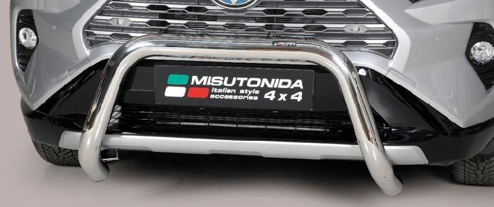 Frontschutzbügel Kuhfänger Bullfänger Toyota RAV4 Hybrid 2019-, Super Bar 76mm Edelstahl Omologato Inox