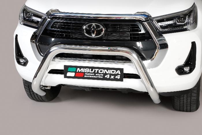 Frontschutzbügel Kuhfänger Bullfänger Toyota Hi-Lux 2020-, Super Bar 76mm Edelstahl Omologato Inox