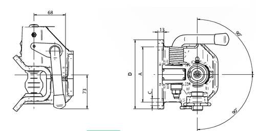 Maulkupplung Orlandi 83x 56, 30kN AKTIONSPREIS