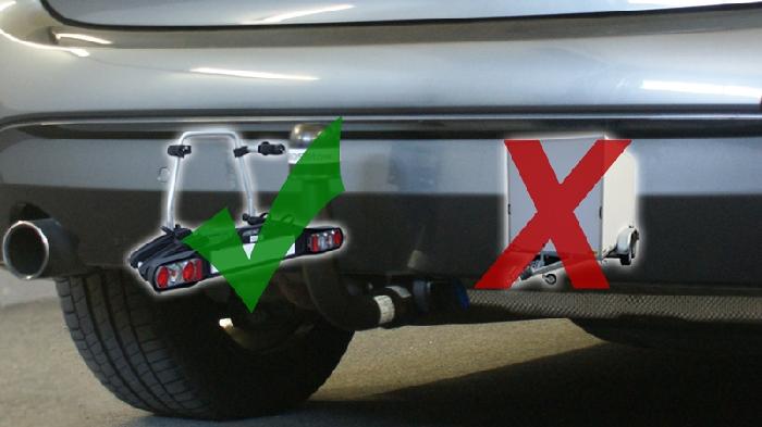 Anhängerkupplung für BMW-2er F45 Active Tourer, spez. 225XE mit M-Paket, nur für Heckträgerbetrieb, Baujahr 2015-