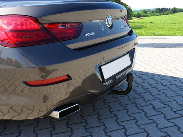 Anhängerkupplung für BMW-6er - 2011- Cabrio F12, Anhängelastfreigabe prüfen, ohne nur für Heckträgerbetrieb, Montage nur bei uns im Haus Ausf.:  vertikal