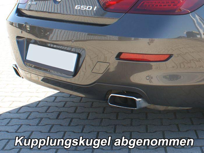 Anhängerkupplung BMW-6er Coupe F13, Anhängelastfreigabe prüfen, ohne nur für Heckträgerbetrieb, Montage nur bei uns im Haus, Baujahr 2011-2015 Ausf.:  vertikal