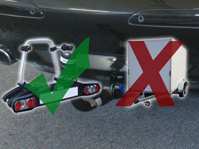 Anhängerkupplung für Mercedes-SL R 230 III, nur für Heckträgerbetrieb, Baujahr 2008-2011