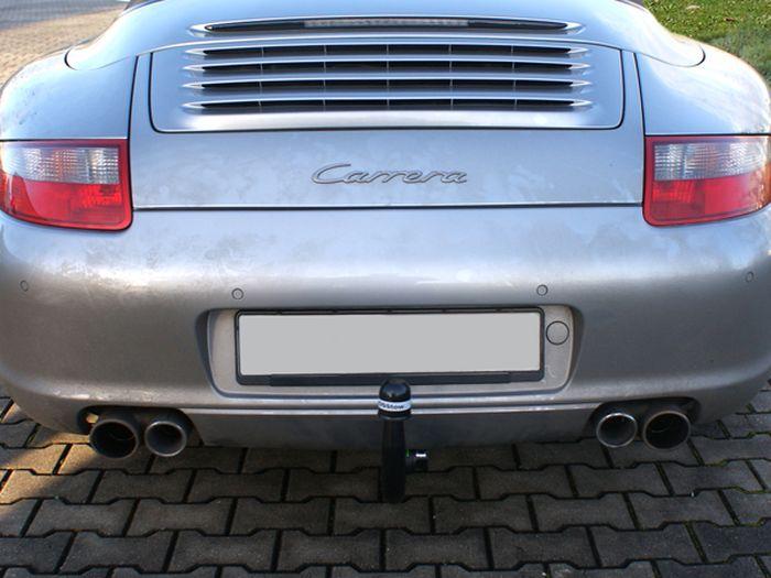Anhängerkupplung Porsche-911 (997) 997_, Sonderanfertigung, Montage nur bei uns im Haus, Baujahr 2003- Ausf.:  vertikal