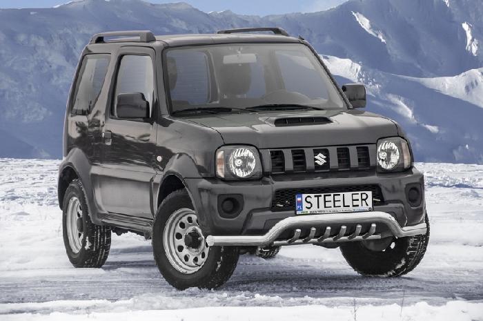 Frontschutzbügel Kuhfänger Bullfänger Suzuki Jimny 2012-2018, Sportbar UR 70mm, schwarz beschichtet
