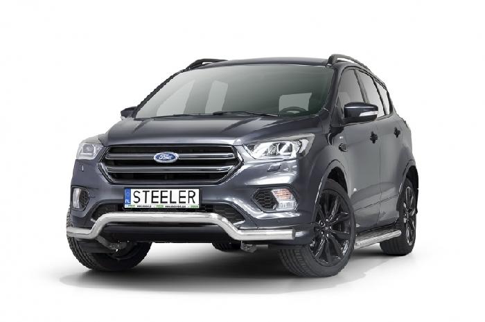 Frontschutzbügel Kuhfänger Bullfänger Ford Kuga 2017-, Sportbar 70mm, schwarz beschichtet