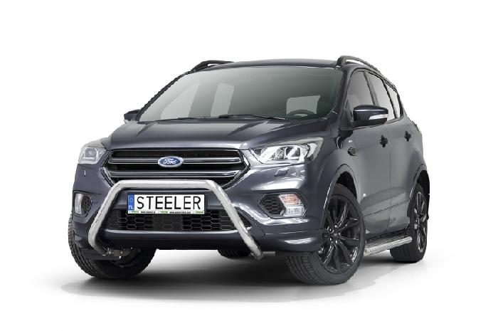 Frontschutzbügel Kuhfänger Bullfänger Ford Kuga 2017-, Steelbar 60mm, schwarz beschichtet