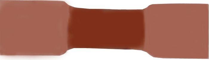 Stoßverbinder, isoliert, rot, 0. 5-1. 0qmm, Lieferumfang 1000 Stk.