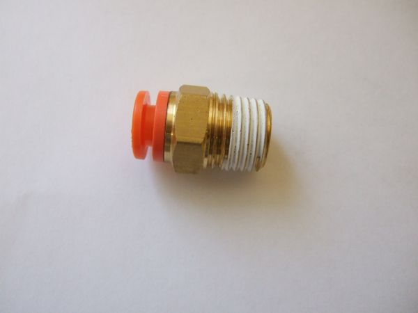 ( LF1A) Balganschluss gerade, Gewinde 1/4, Schlauch 1/4 Zoll, 6,35 mm