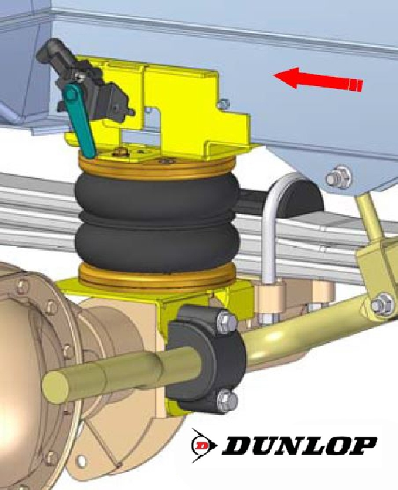 VW Crafter 35, Heckantrieb mit Zwillingsbereifung, Baujahr 2017-, Zusatz-Luftfederung 8 Zoll Doppelfaltenbalg- Anlage, syst. LF3- zzgl. Montagekosten bei uns im Haus.