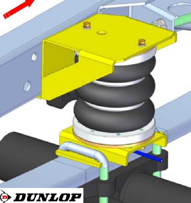 Iveco Daily L&S Bj. 2014-, Zusatz-Luftfederung 8 Zoll Zweikreis Doppelfaltenbalg- Anlage, syst. LF3- zzgl. Montagekosten bei uns im Haus.