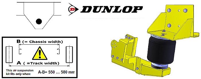 ALKO ( AL-KO )- Chassis- 2007-2011 low Radaufnahme- Einzelachse, Zweikreis Zusatz-Luftfederanlage, syst. LF3