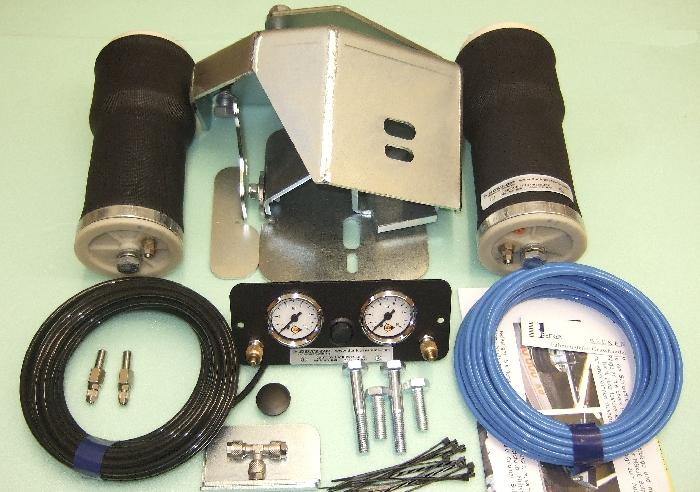 Luftfederung für ALKO ( AL-KO )- Chassis- 2011- Standard Radaufnahme- ohne ALC Level Control, Einzelachse, Zweikreis Zusatz-Luftfederanlage, syst. LF3