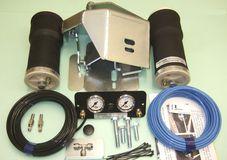 Luftfederung für ALKO ( AL-KO )- Chassis- 1994-2002_Standard Radaufnahme- Einzelachse, spez. für auflaufendes Chassis, Zweikreis Zusatz-Luftfederanlage, syst. LF3
