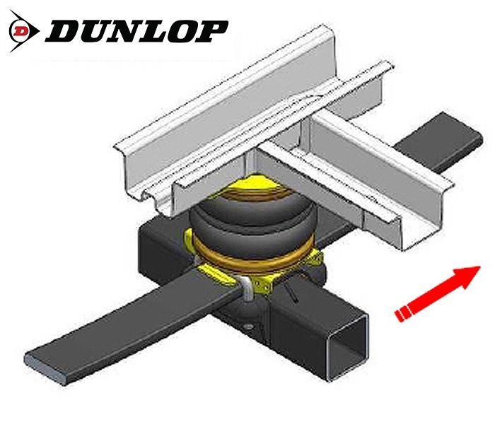 Fiat Ducato Eurochassis X250 (2006-2014), Zusatz-Luftfederung 8 Zoll Zweikreis Doppelfaltenbalg- Anlage, Dunlop, syst. LF3