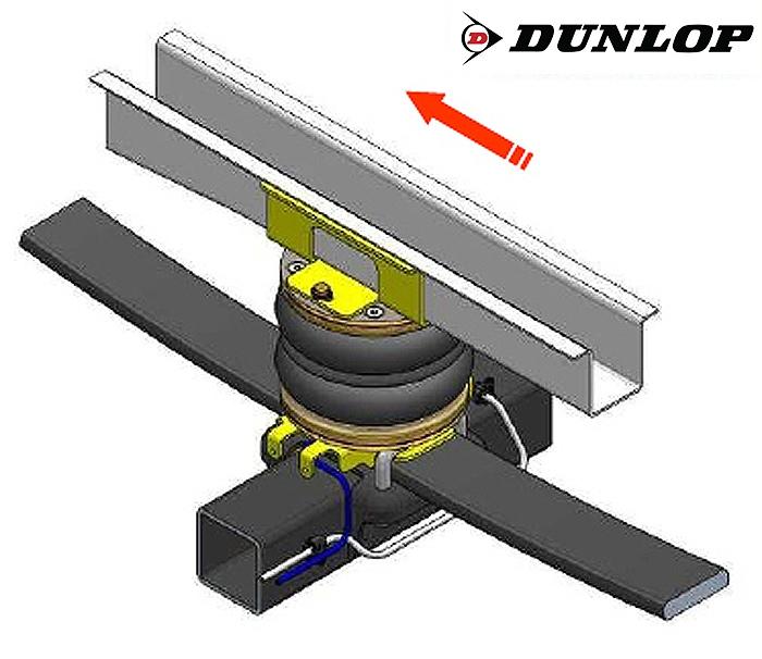 Citroen Jumper Eurochassis 230 (1994-2001), Zusatz-Luftfederung 8 Zoll Zweikreis Doppelfaltenbalg- Anlage, syst. LF3