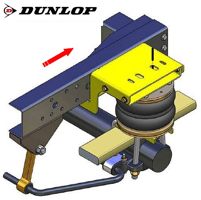 Iveco Daily L&S Bj. 2006-, Zusatz-Luftfederung 8 Zoll Zweikreis Doppelfaltenbalg- Anlage, syst. LF3- zzgl. Montagekosten bei uns im Haus.