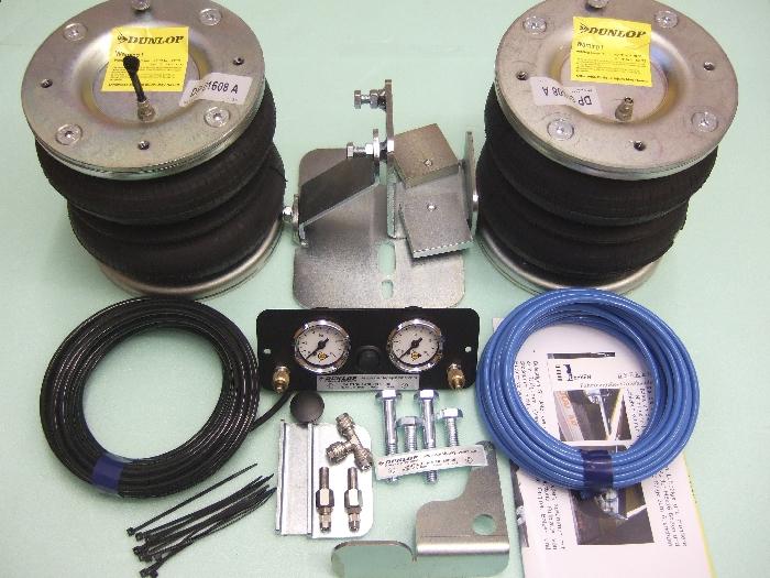 Nissan Interstar Bj. 1998-2010, Zusatz-Luftfederung 8 Zoll Zweikreis Doppelfaltenbalg- Anlage, syst. LF3
