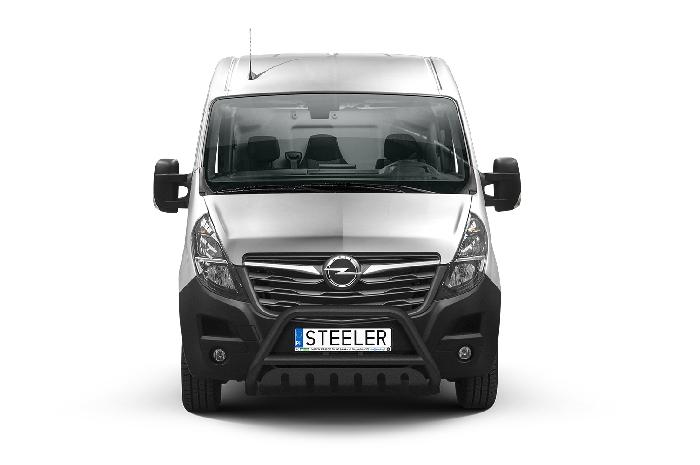 Frontschutzbügel Kuhfänger Bullfänger Opel Movano 2019-, Steelbar QFU 70mm, schwarz beschichtet