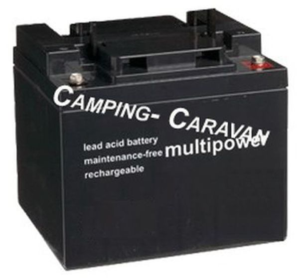 Rangierhilfen Batterie: AGM- Camping AKKU MULTIPOWER 12-50 light