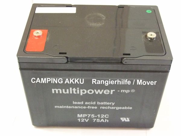 Zubehör Rangierhilfe: AGM- Camping AKKU MULTIPOWER 12-75 light