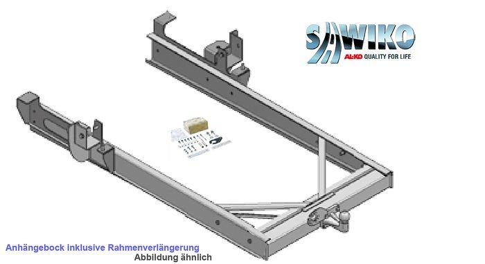 Anhängerkupplung Typ Sawiko 01, f. Wohnmobile ohne tragfähige Rahmenverlängerung, D 12,5kN