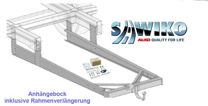 Anhängerkupplung Typ Sawiko 017, f. Wohnmobile ohne tragfähige Rahmenverlängerung, D 12,5kN