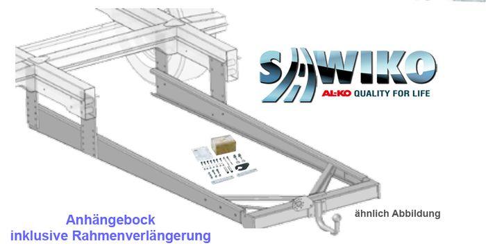 Anhängerkupplung Typ Sawiko 019, f. Wohnmobile ohne tragfähige Rahmenverlängerung, D 10,3-12,5kN.