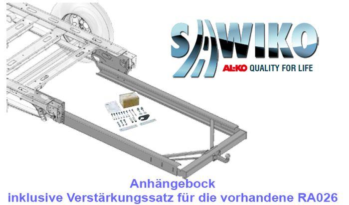 Anhängerkupplung Typ Sawiko 026B, f. Wohnmobile mit Rahmenverlängerung, die einen Verstärkungskit erfordern, D 12,5kN