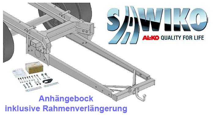 Anhängerkupplung Typ Sawiko 028, f. Wohnmobile mit gekürztem Serienfahrgestell ohne tragfähige Rahmenverlängerung, D 14,0kN.