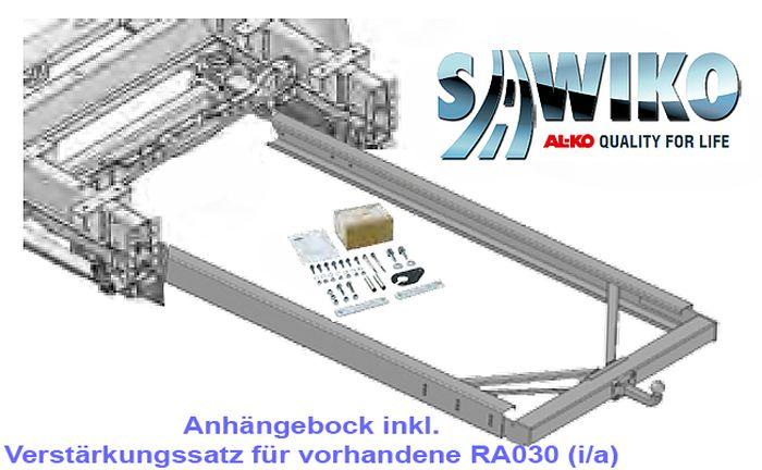 Anhängerkupplung Typ Sawiko 030B, f. Wohnmobile mit vorh. Rahmenverlängerung, D 12,5kN
